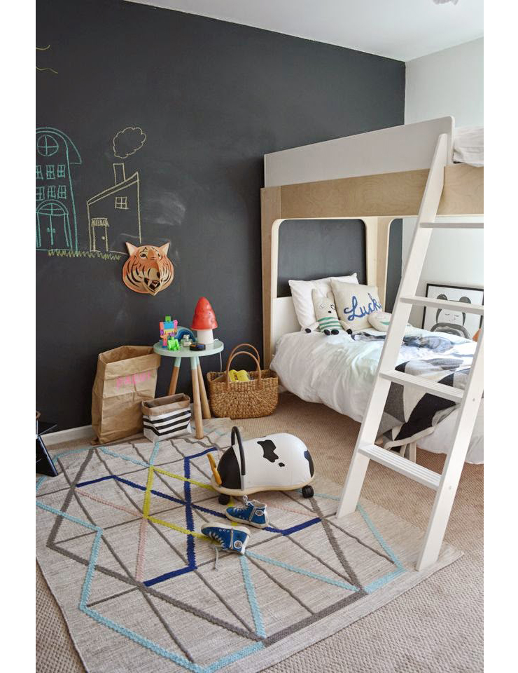Kinderkamer opfleuren? Gebruik dan een krijtbord - INTERIOR JUNKIE