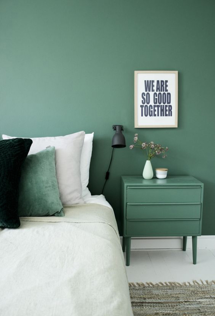 Kleur bekennen met groen in huis   interior junkie