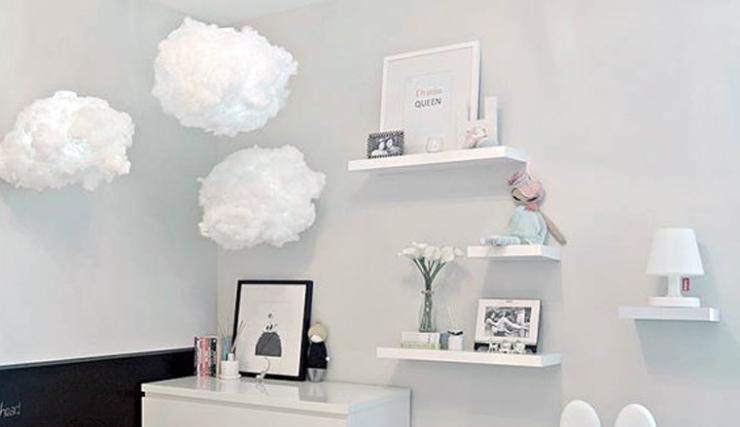 woonvondst: wolkenlampen voor in de kinderkamer - interior junkie, Deco ideeën