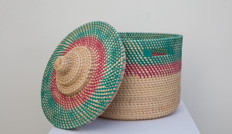 Paarse Slaapkamer Spullen : Bamboe mand groen-roze met deksel, €35 ...