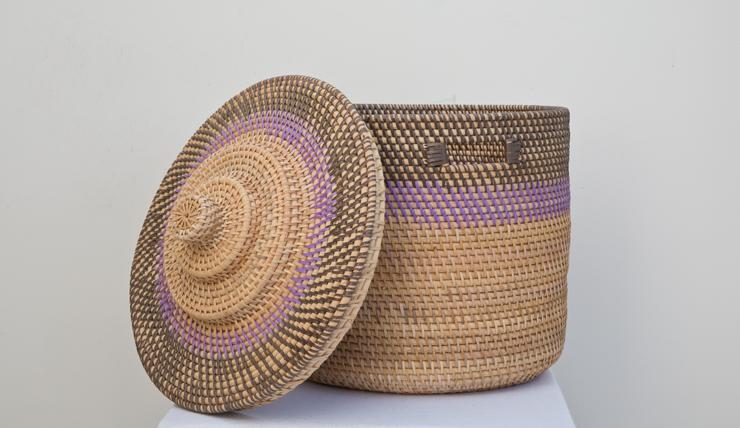 Paarse Slaapkamer Spullen : Bamboe mand paars, €45 - INTERIOR JUNKIE