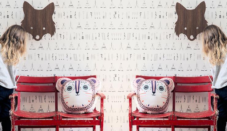 ... Behang Kinderkamer Lief: Studio poppy retro behang. Kids behang