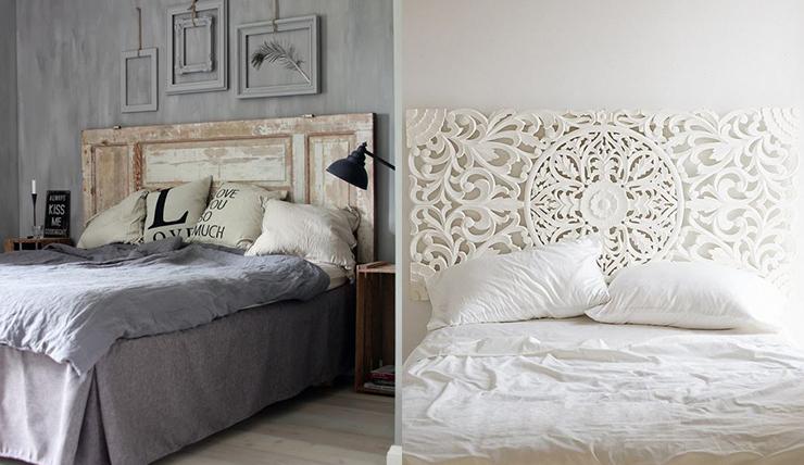 Hoofdbord wit hout: hoofdborden om je bed een stuk spannender te