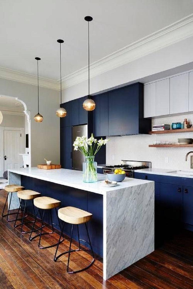 Vijftig tinten blauw in huis - INTERIOR JUNKIE