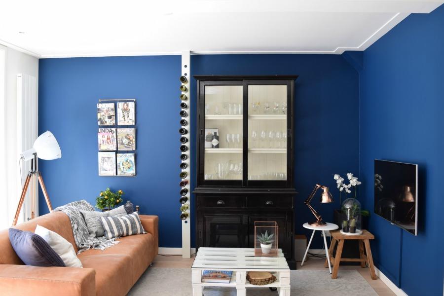 Vijftig tinten blauw in huis   interior junkie