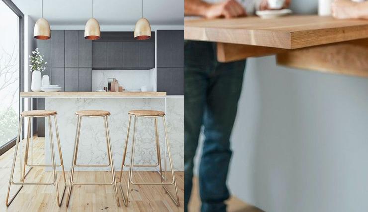 Keuken Bar Muur : Leuk voor in de keuken een bartafel interior junkie lovin