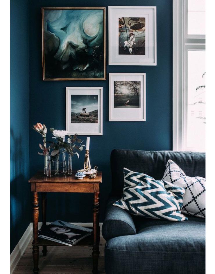 Pronken met diepblauwe tinten in huis