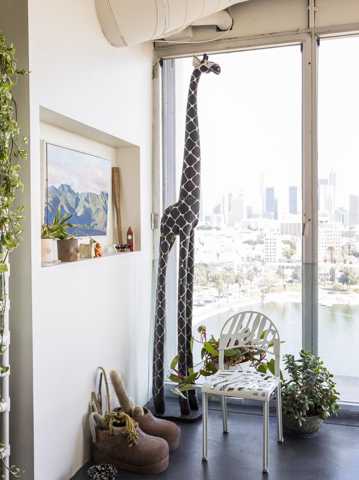 Loft in L.A met stunning uitzicht en een giraf
