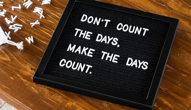 Elke dag een andere boodschap met dit letterbord