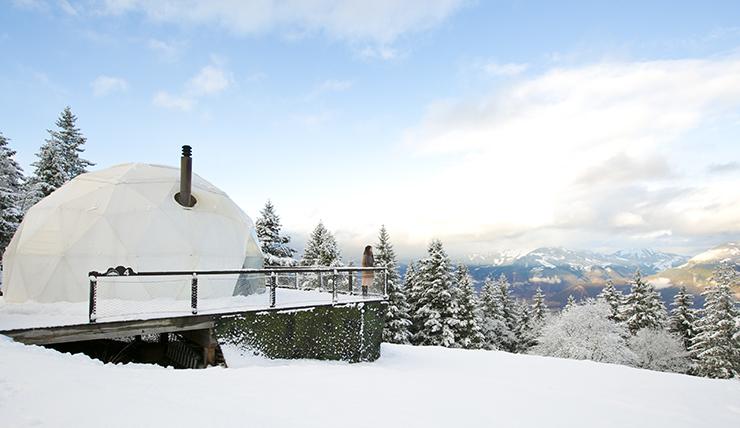 Honeymoon adresje: glampen in Zwitserland