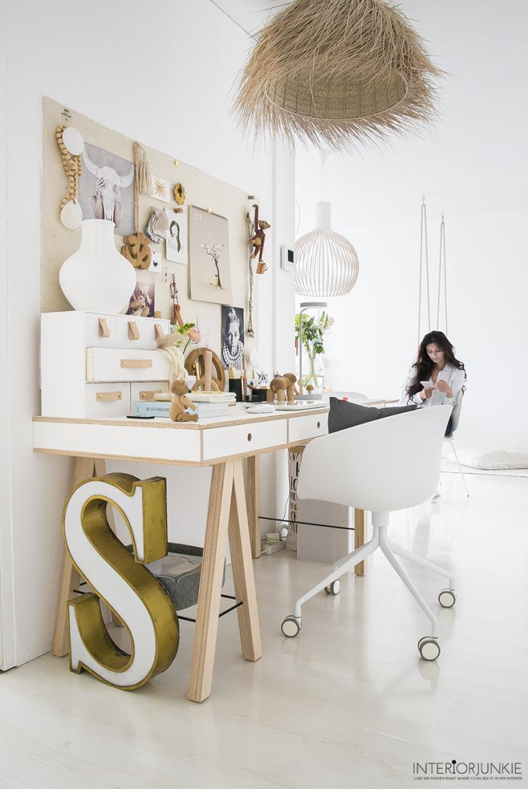 Zo style jij een werkplek in de woonkamer