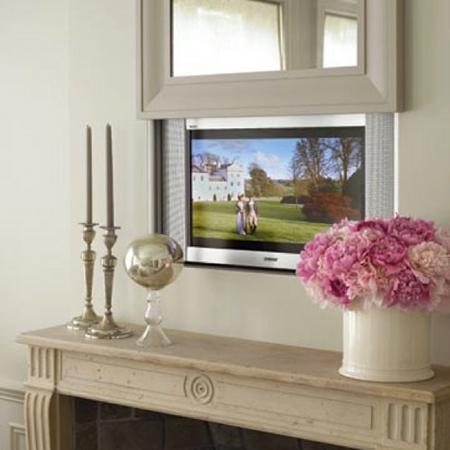 Een stijlvol plekje voor je televisie damespraatjes - Spiegel in de woonkamer ...