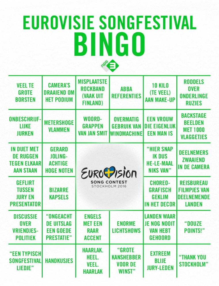 Eurovisie-SongfestivalBingo