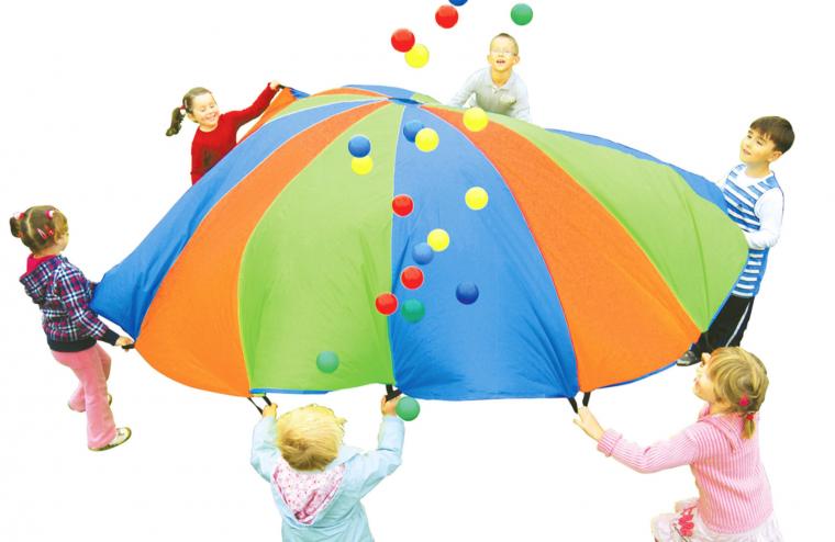 regenboogparachute