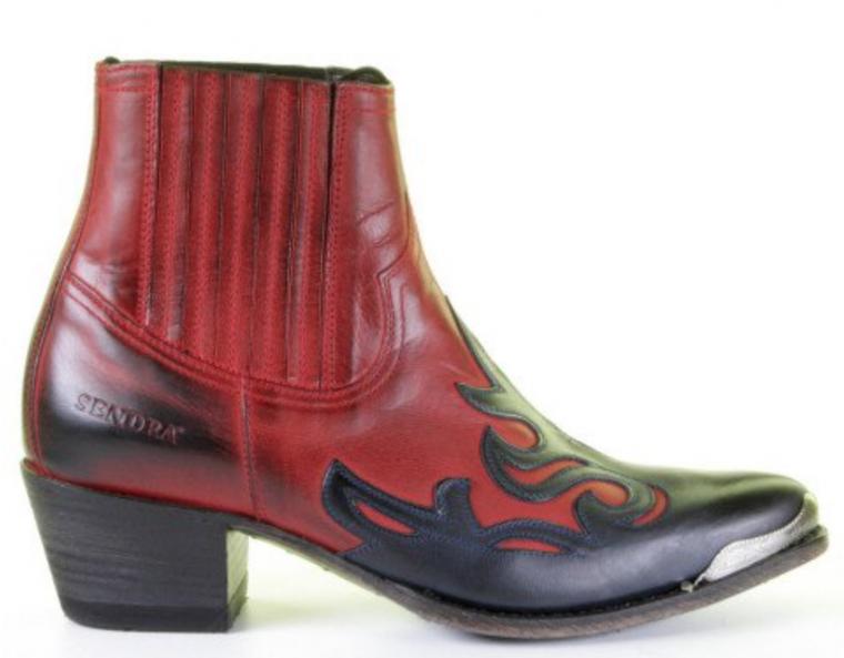 Sendra-cowboylaarzen-rood