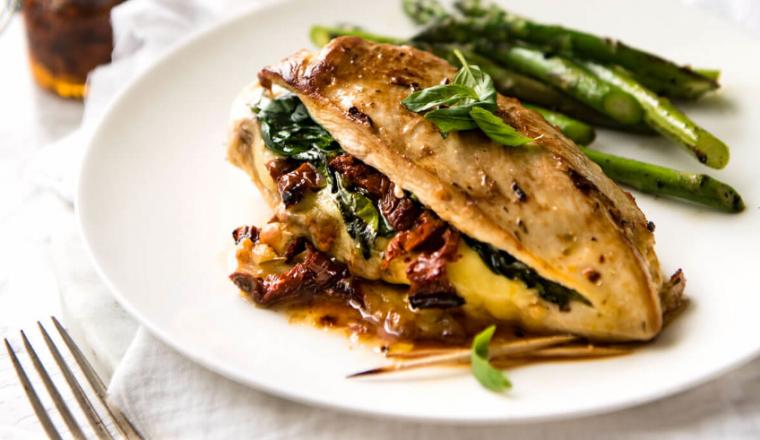 spinazie recepten met kip