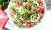 Komkommer, watermeloen en feta salade