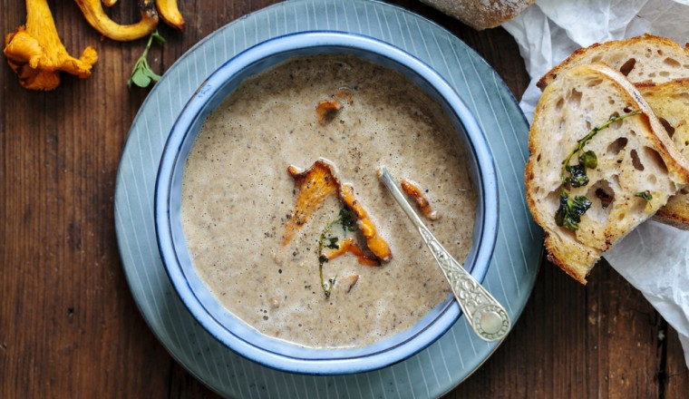 champignon truffel soep