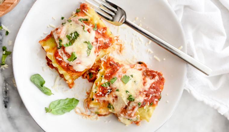 Spinazie-lasagne rolletjes (uit het Dinner for Two kookboek) 2