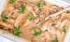 Recept Schotel met romige kip en champignons