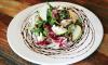 Salade met geitenkaas en appel
