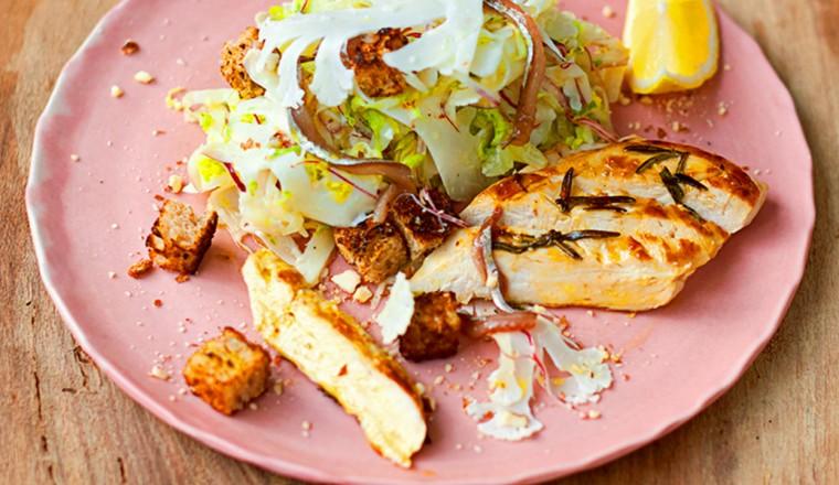 Gezonde Ceasar Salade van Jamie Oliver