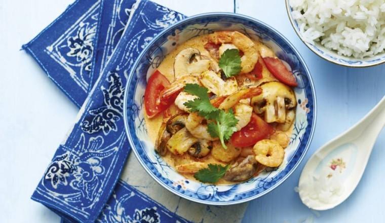Thaise garnalencurry met tomaat recept