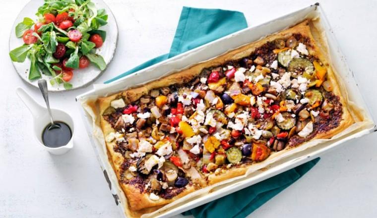 Recept Plaattaart met gegrilde groenten