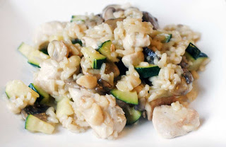 recept risotto courgette