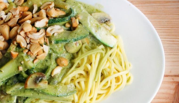 pasta pesto vegetarisch recept