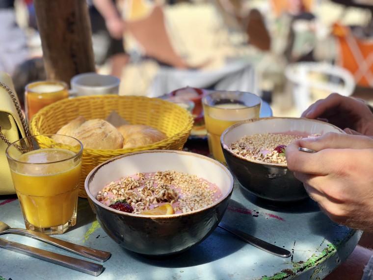 Ontbijten bij Strand Pauli. Ook een aanrader!