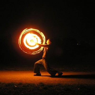 Oggie Fire Dancing