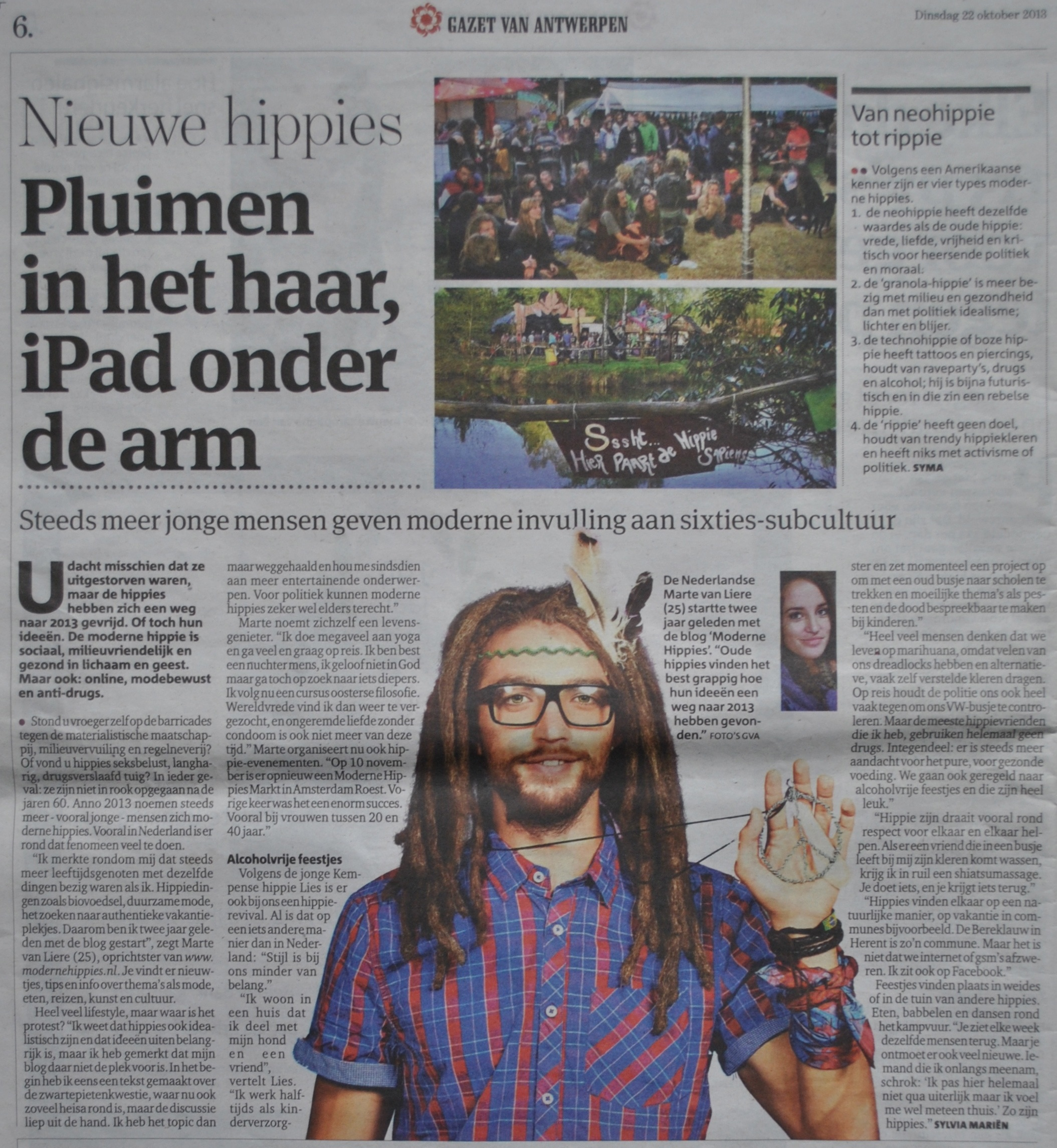 Moderne Hippies In de Pers Gazet van Antwerpen1