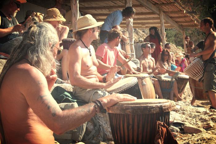 Benirras Beach Ibiza Sunday Drums01