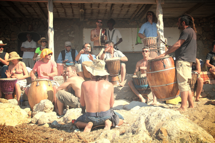 Benirras Beach Ibiza Sunday Drums04