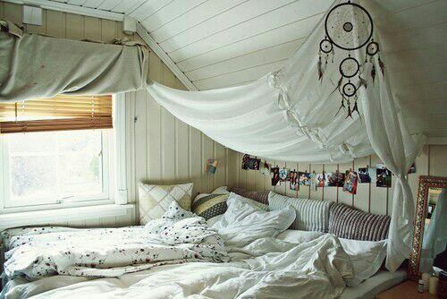Inspiratie witte boho slaapkamer moderne hippies