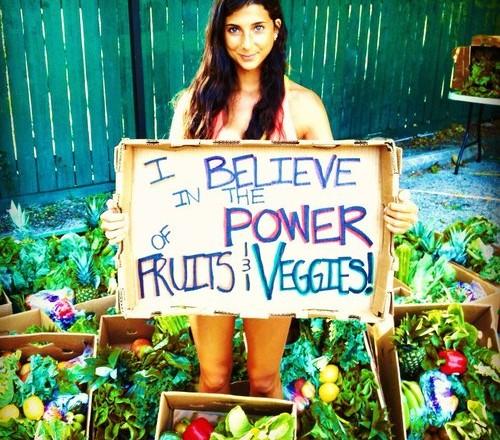 I believe in fruits en veggies