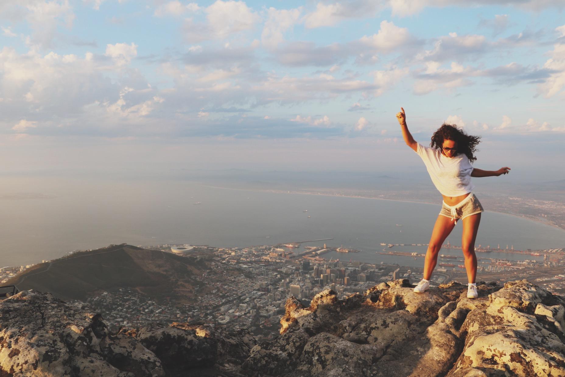 Bovenop de Tafelberg