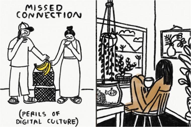 carissa illustrator moderne hippies