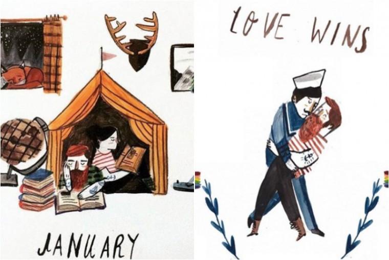 dick illustrator moderne hippies