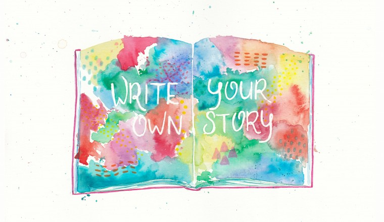 write your own story-liggend
