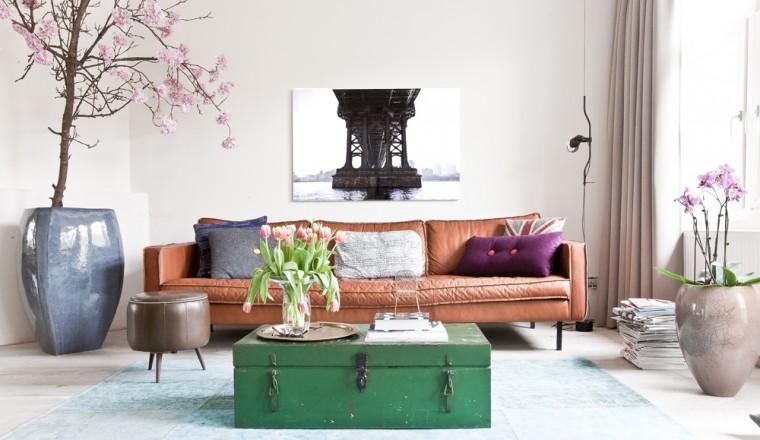 Witte Zomerse Woonkamer : Breng zomerse kleur in je interieur