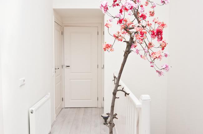 bloesemboom binnen woonkamer