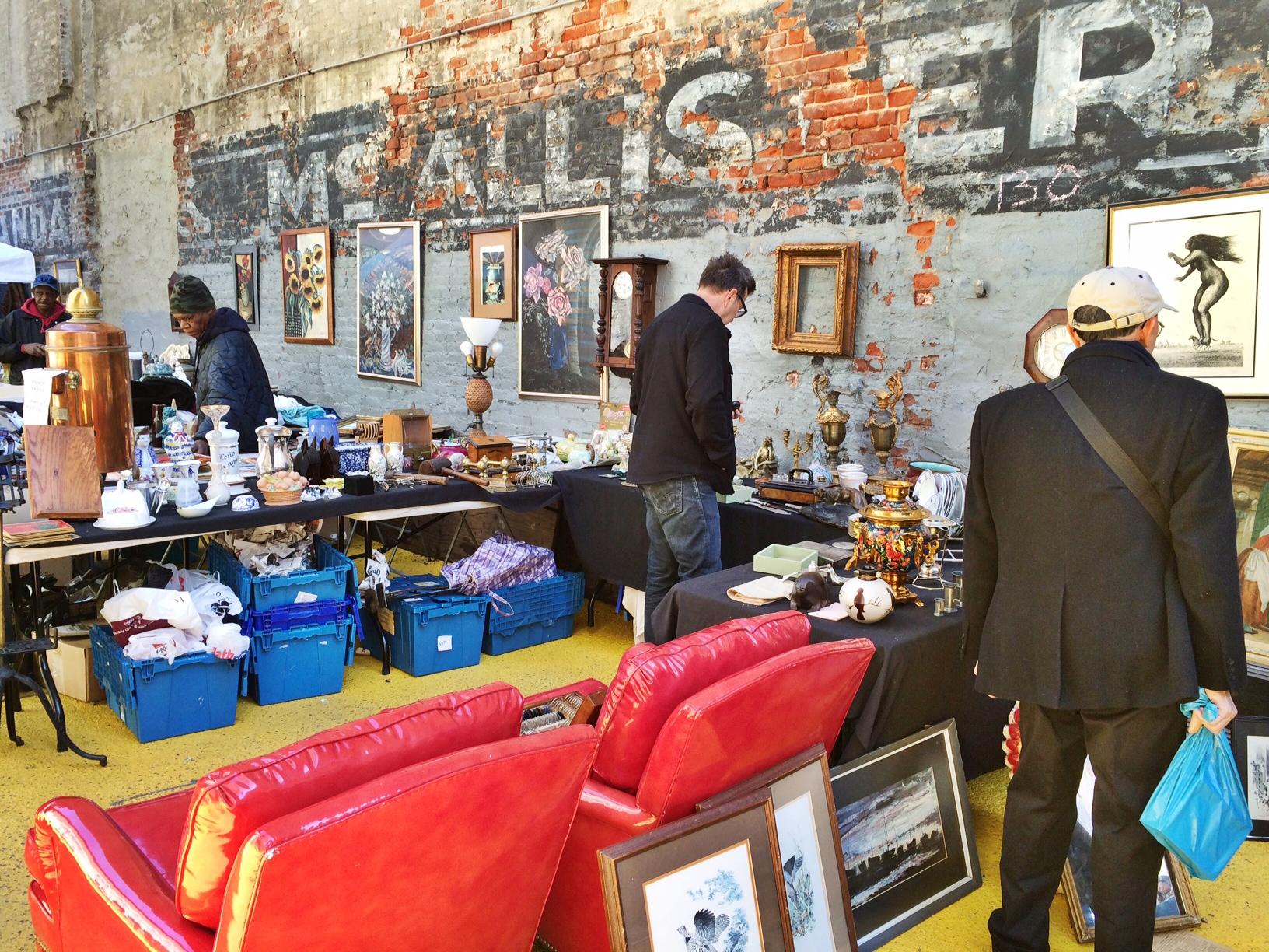Struinen op de Chelsea flea market