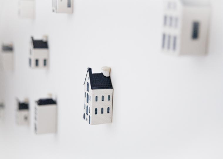 KLM huisjes aan de muur