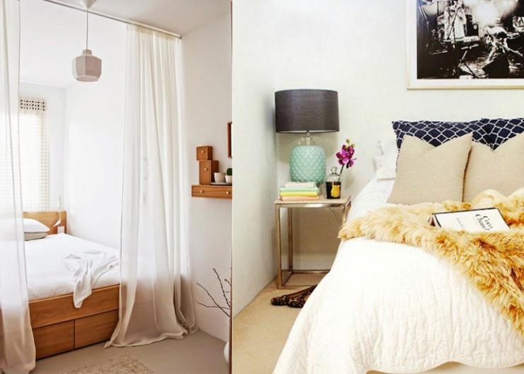 11x tips voor een kleine slaapkamer interior junkie for Kleine vierkante woonkamer inrichten