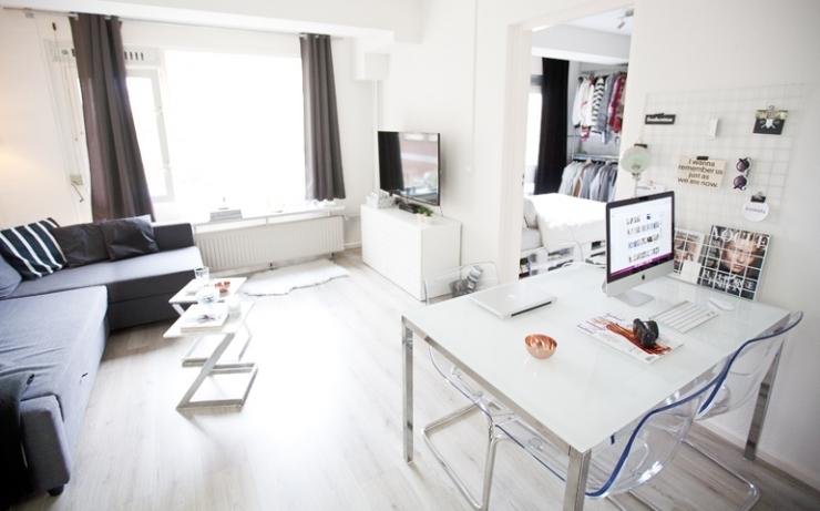 Binnenkijken in een compact huis van 30m2 interior junkie - Kamer van water m ...