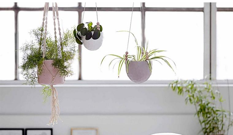 Woonvondst: plantenhanger met kralen