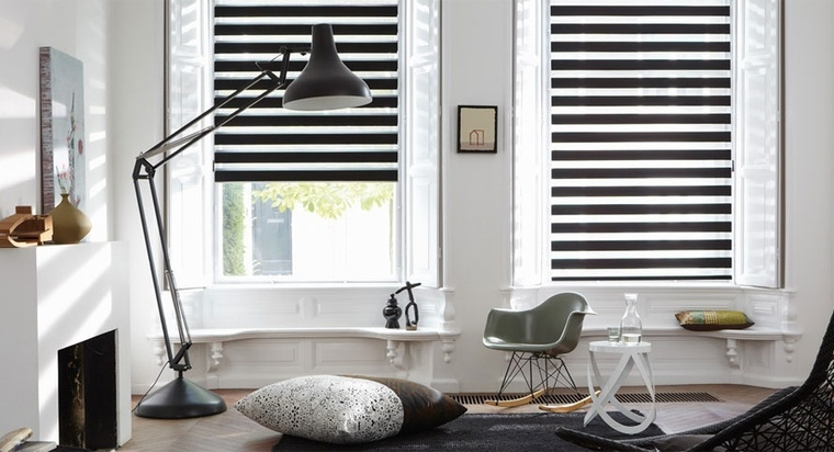 Coole raambekleding in huis interior junkie