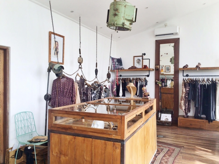 Winkel vol industriele parels in Canggu, Bali